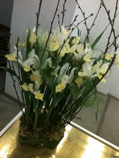 begravningsdekoration iris äng